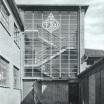 Treppenhausfassade der Druckerei Feodor Wilisch 1926
