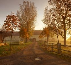 Herbststimmung auf dem Rittergut Positz