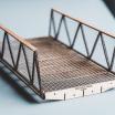 Ein Einzelmodul des Bauhaus.Walk im Modell. Mehrere dieser Module ergeben einen mobilen Höhenweg, der jeder Topographie angepasst werden kann.