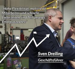 06_Eigene Anstrengung, kontinuierliche Entwicklung und regionales Engagement in der Ausbildung haben die Dreiling Maschinenbau GmbH fest in der Region verankert.