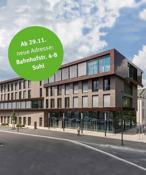 Das Kundencenter Suhl zieht um - neues Gebäude ab dem 29.11.2017!