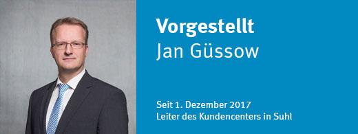 Jan Güssow - seit 1. Dezember 2017 Leiter des Kundencenter Suhl
