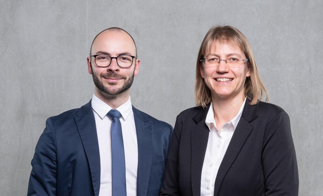 Team Mietwohnungsbau (im Bild sind Robert Werner und Yvonne Samland)
