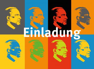 Erfurter Wilhelm-Röpke-Vorlesung (im Bild: Grafik mit dem Konterfei von Wilhelm Röpke)