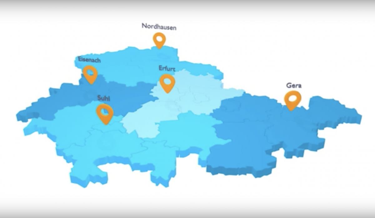 In jeder Region für Sie da - die Kundenbetreuung der Thüringer Aufbaubank