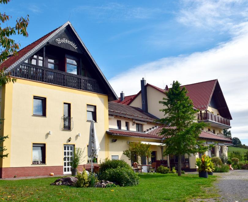 #Zuversicht: Ferienhotel Wolfsmühle (im Bild: das Ferienhotel von außen)