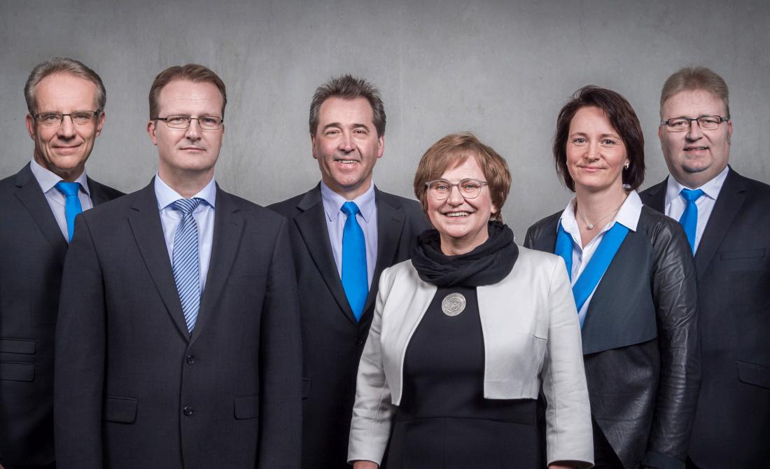 Kundenbetreuung der Thüringer Aufbaubank (im Bild zu sehen ist das sechsköpfige Beratungsteam).