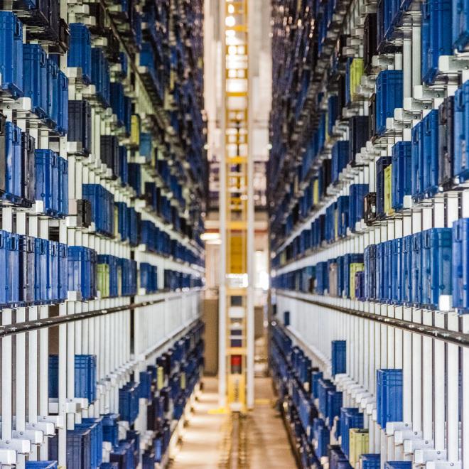 Logistik Kredit (im Bild: ein Lager)