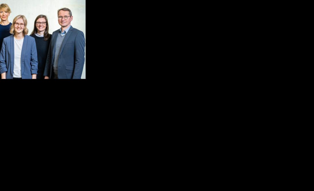 Das fünfköpfige Team der Unternehmenskommunikation