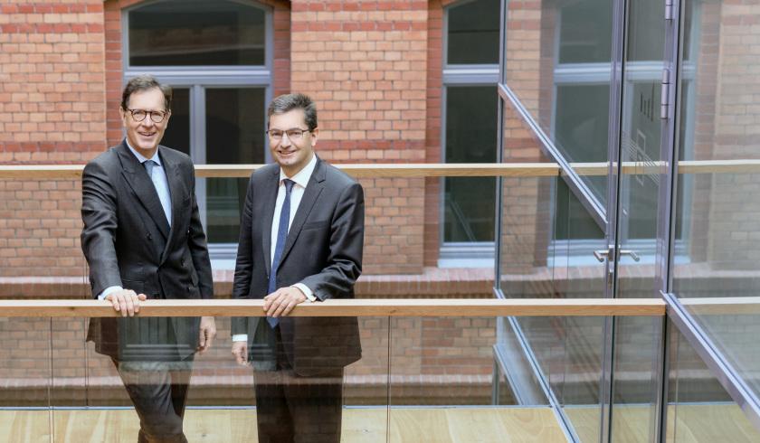 Vorstände der Thüringer Aufbaubank (im Bild sind Matthias Wierlacher und Eckhard Hassebrock)
