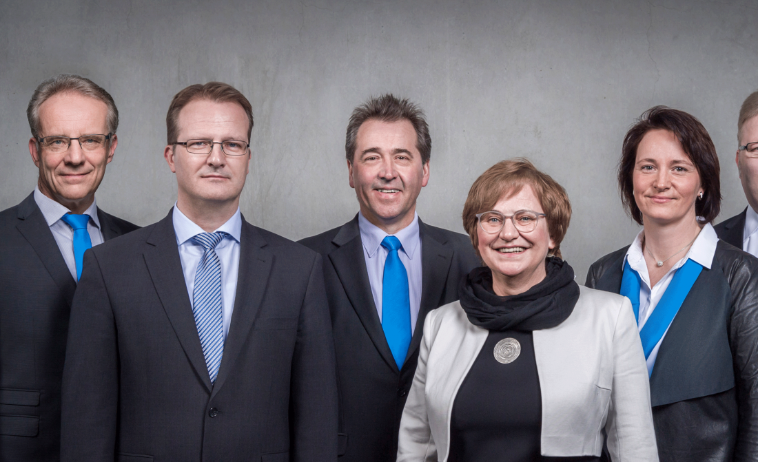 Kundenbetreuung der Thüringer Aufbaubank (im Bild zu sehen ist das fünfköpfige Beratungsteam).